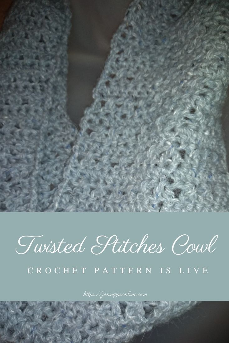 Twisted Stitches Cowl Crochet Pattern Is Live post thumbnail image